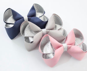 Metallic Lined Small Boutique Bows - All Colours