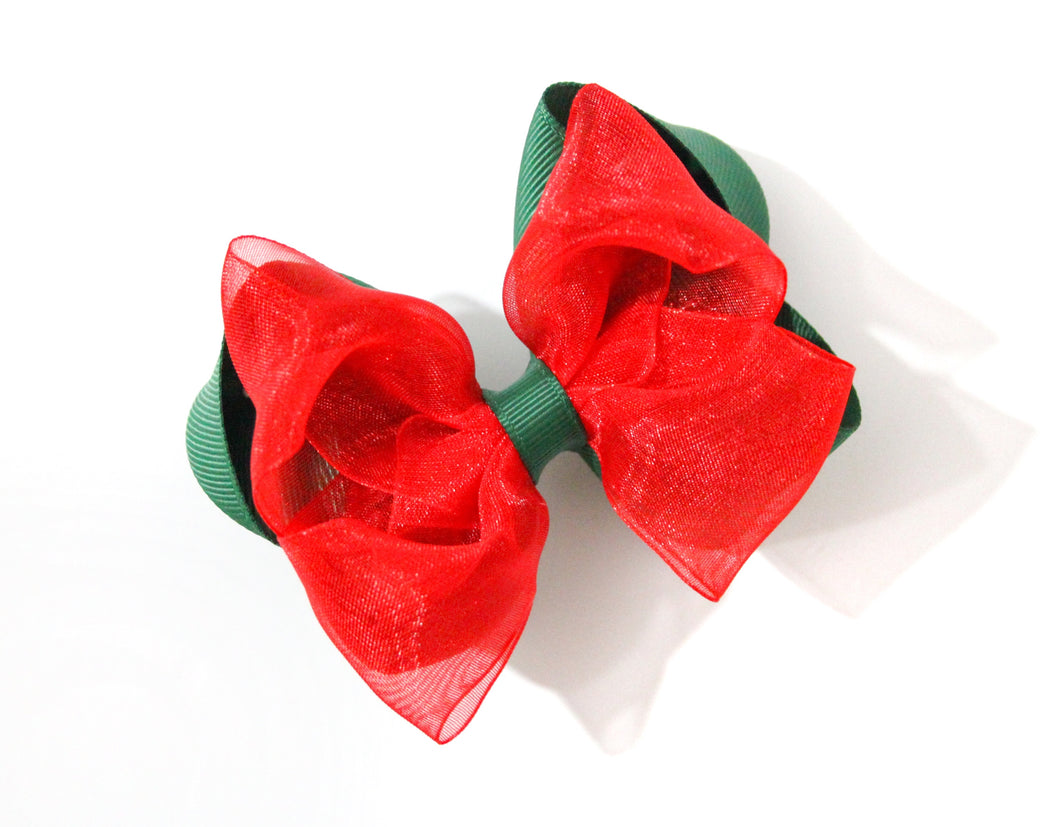 Double stacked large boutique bow