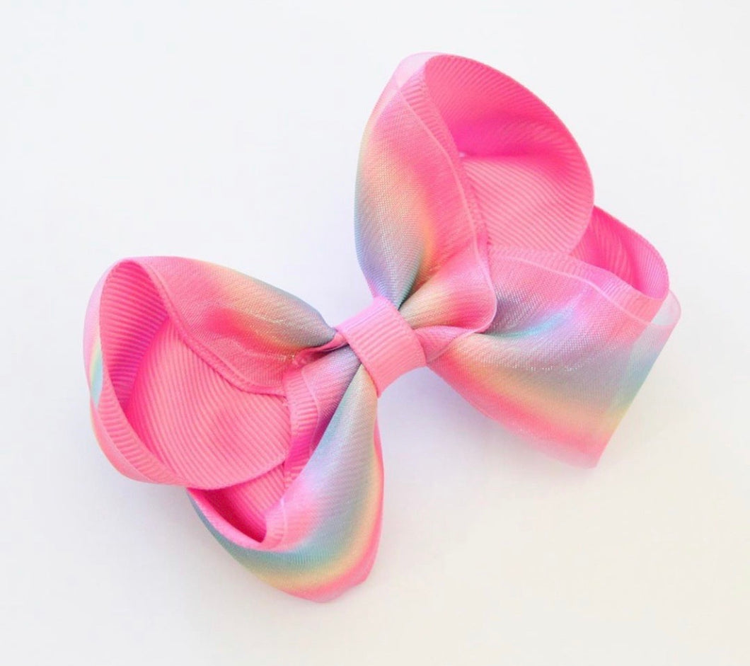 Rainbow Silky Organza Large Boutique Bows