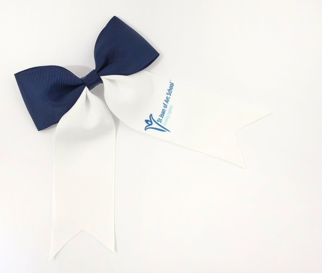 School Logo Large Ponytail Bows