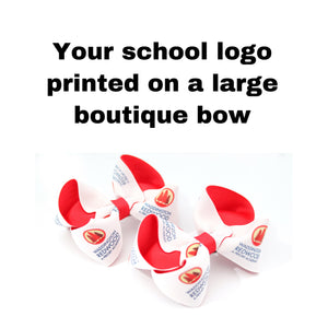 School Logo Large Boutique Bows