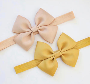 Large Double Pinch Bows - Clips and Headbands