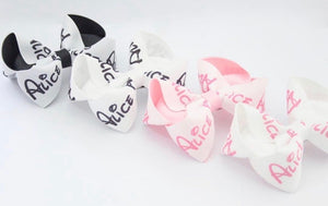 Personalised Large Boutique Bows - all fonts