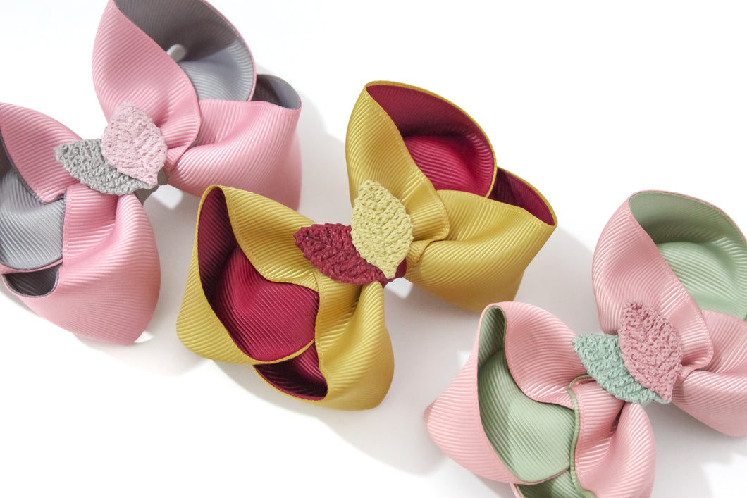 Autumnal Leaf Large Boutique Bows