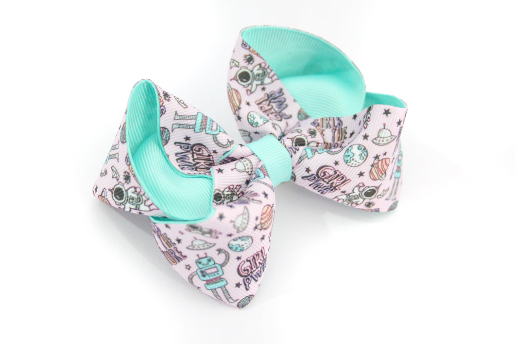 'Girls Are The Future' Large Boutique Bow