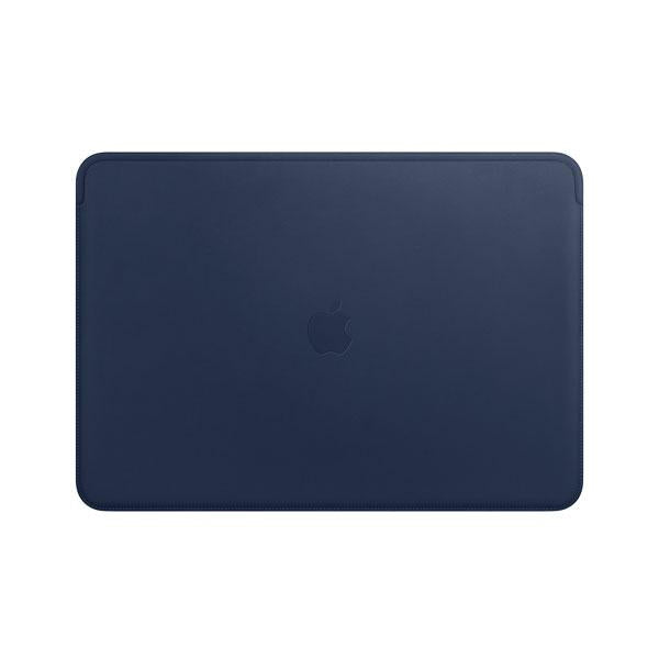 Leather Sleeve for 15-inch Macbook Pro - Midnight Blue