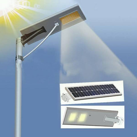 150W Solar Street Light With Motion Sensor, Remote Control, Automatic  Day/Night Switch