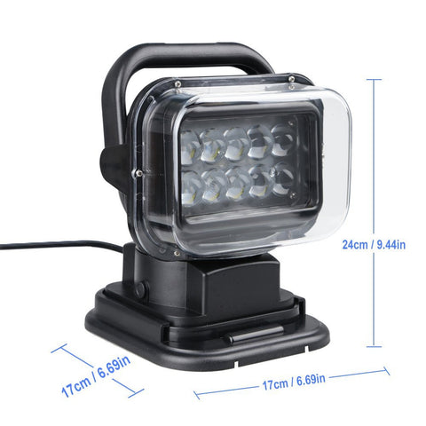 Rotating 50W Cree Led Search Light Remote Control Spot Work Light For Hummer Jeep And Other Off-road Vehicles or Trucks Boat  sc 1 st  CCTV Direct & Rotating 50W Cree Led Search Light Remote Control Spot Work Light ...