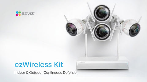 **Top Quality** Hikvision Ezviz EzWireless CCTV Kit - 4 x 1080p Cameras, 1x  8 Channel Wireless NVR with 1TB HDD