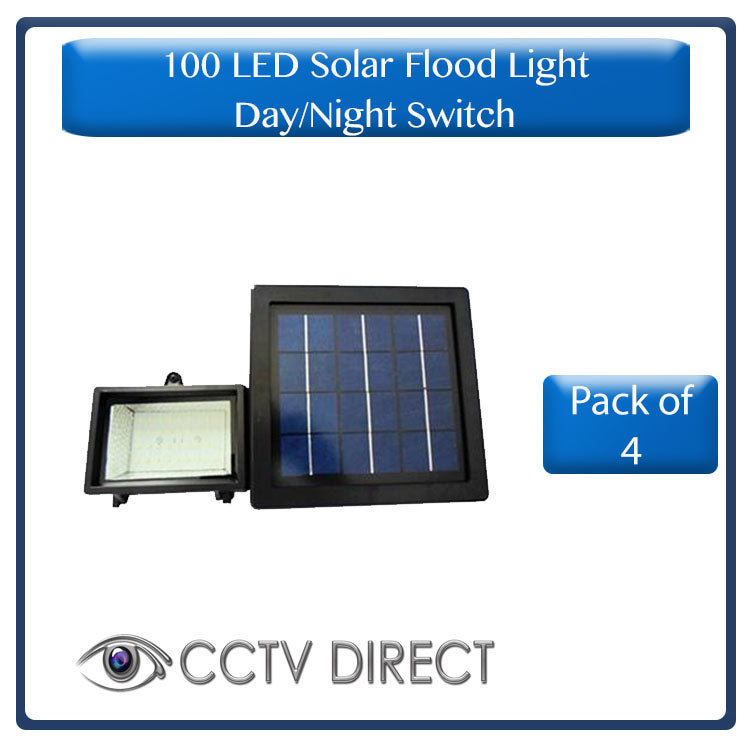 ** Pack of 4** 100LED Solar Flood Light with day/night switch (R425 each)