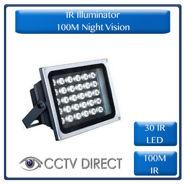 IR Illuminator, 30 IR LED, 100M Night vision