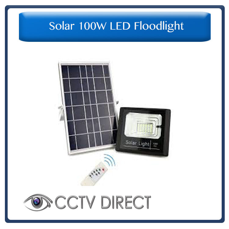 Solar 100W LED Flood Light with remote control