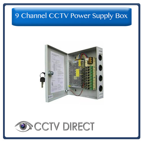 CCTV Power Supply Box, 9 Channel