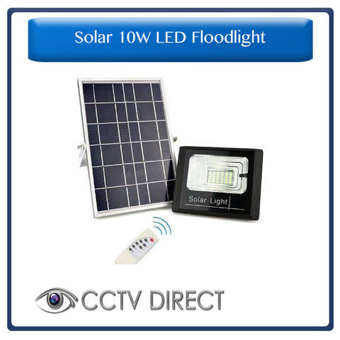 Solar 10W LED Flood Light with remote control