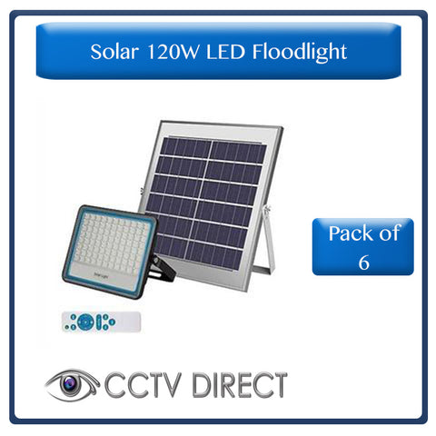 *** Pack of 6 *** Solar 120w LED Floodlight with Remote Control & Day/night switch ( R899 each )