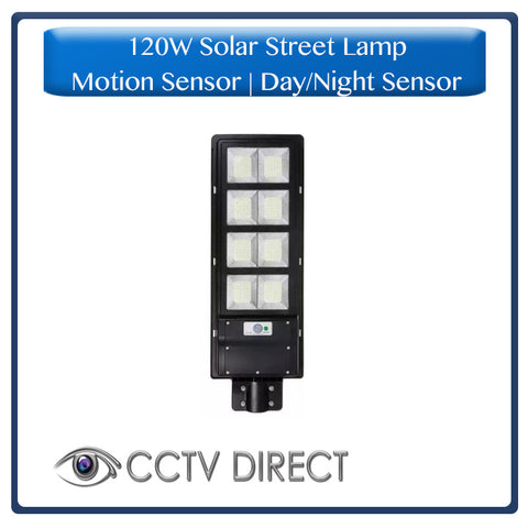 120W Solar Street Lamp With Motion Sensor & Day/Night Sensor
