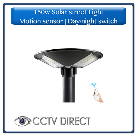 150w Solar street Light with Motion sensor and day/night switch