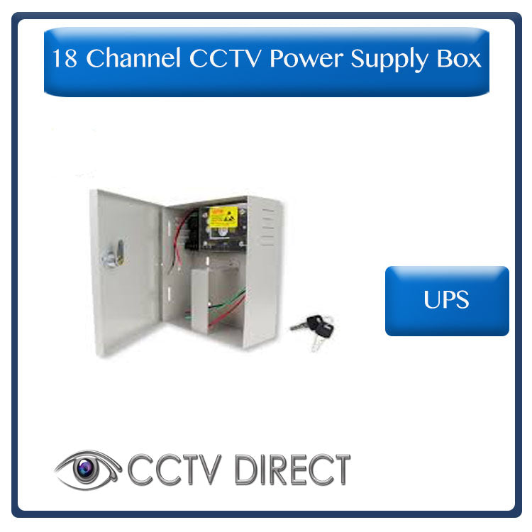 18 Channel 20Amp UPS power supply with battery back up