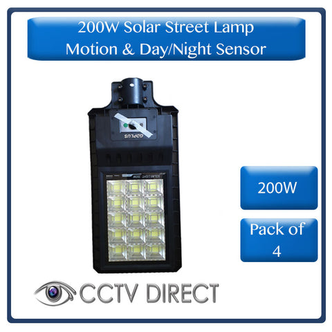 ** Pack of 4 ** 200W Solar Street Lamp With Motion Sensor & Day/Night Sensor (R1300 each)