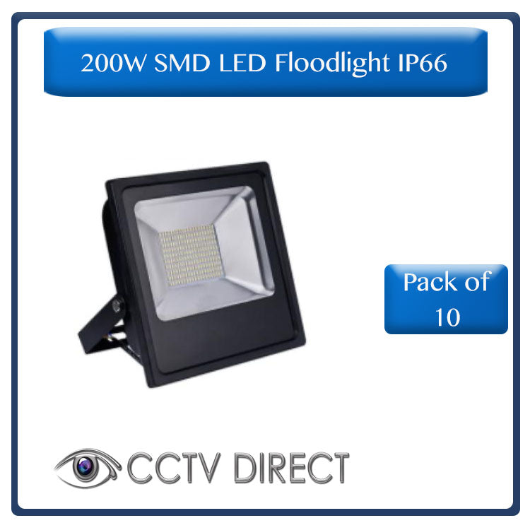 **Pack of 10** 200w SMD LED Floodlight IP66 ( R599 each)