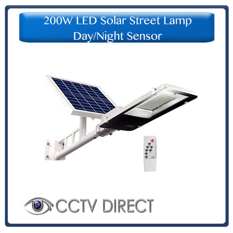 200w LED Solar Street Light with bracket & Pole, Day/night switch & remote control