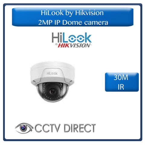 HiLook by Hikvision 2MP IP Dome camera, 30m IR