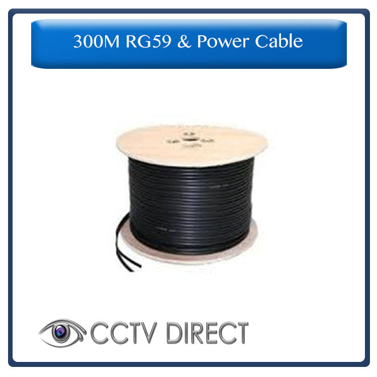 RG59 & Power cable for CCTV camera's, 300 Meters