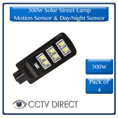 *** Pack of 4** 300W Solar Street Lamp With Motion Sensor & Day/Night Sensor (R1999 each)