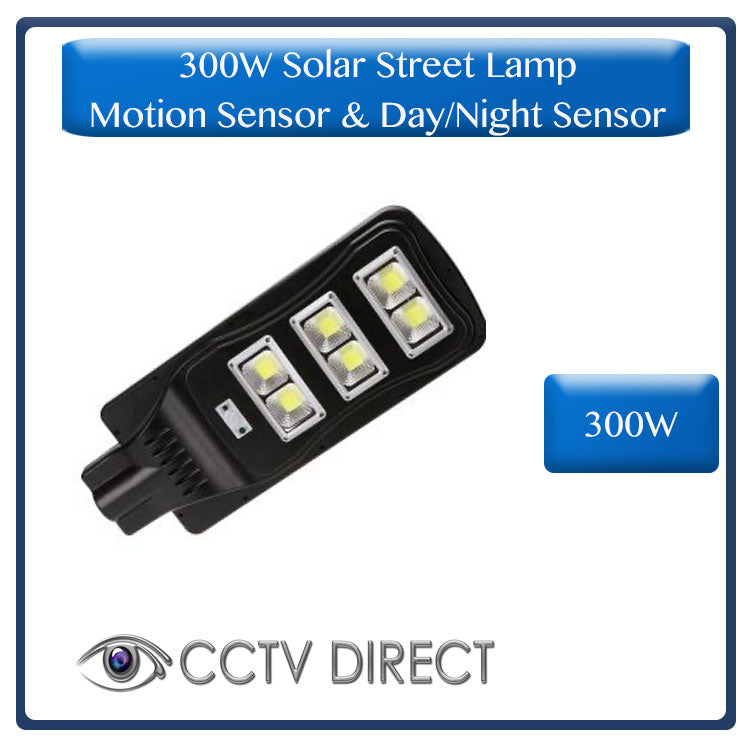300W Solar Street Lamp With Motion Sensor & Day/Night Sensor