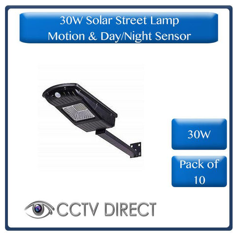 **Pack of 10** 30W Solar Street Lamp With Motion Sensor & Day/Night Sensor ( R475 each)