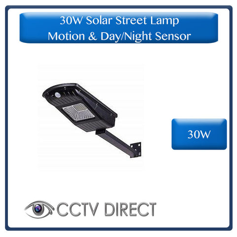 30W Solar Street Lamp With Motion Sensor & Day/Night Sensor