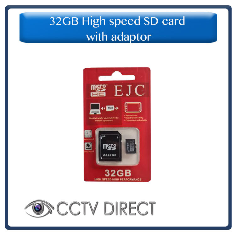 32GB High speed SD card with adaptor