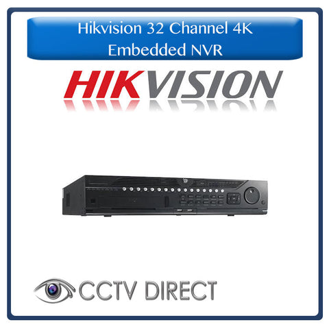 Hikvision 32 channel 4K Embedded NVR, 12MP Recording, DS-9632NI-I8