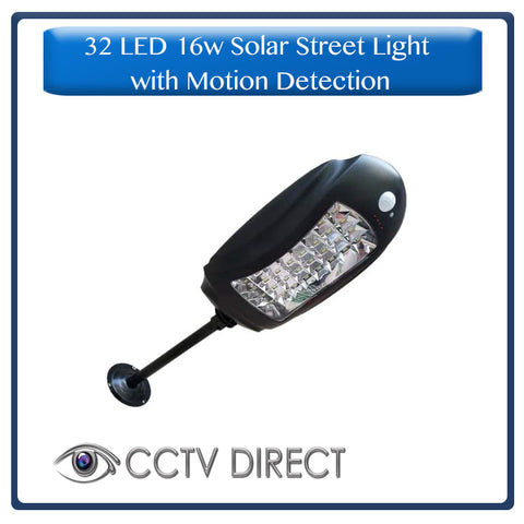 32 LED 16w Solar Street light with motion detection, mounting bracket and pole