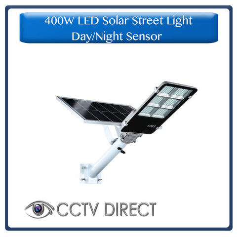 400w LED Solar Street Light with bracket & Pole, Day/night switch & remote control