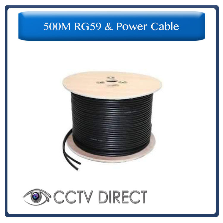 RG59 & Power cable for CCTV camera's, 500 Meters
