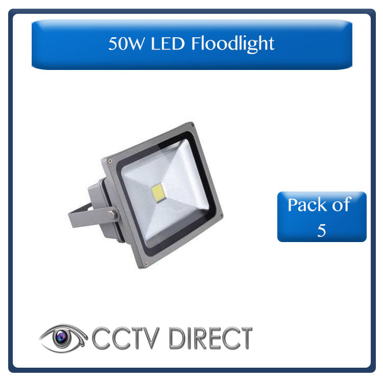 **Pack of 5** 50W LED Floodlight, energy saving ( R260 each)