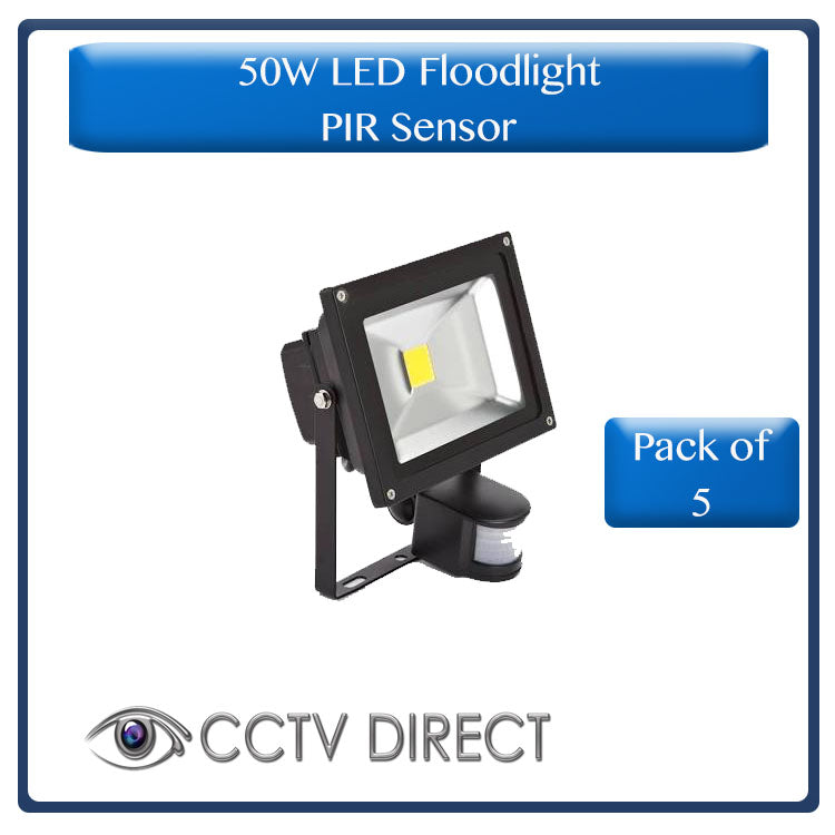 **Pack of 5** 50 Watt LED Floodlight with PIR sensor, Motion activated. ( R360 each )