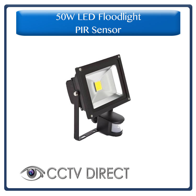 50 Watt LED Floodlight with PIR sensor ( Motion activated )