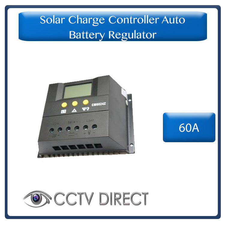 12V/24V Solar Charge Controller Auto Battery Regulator 60A