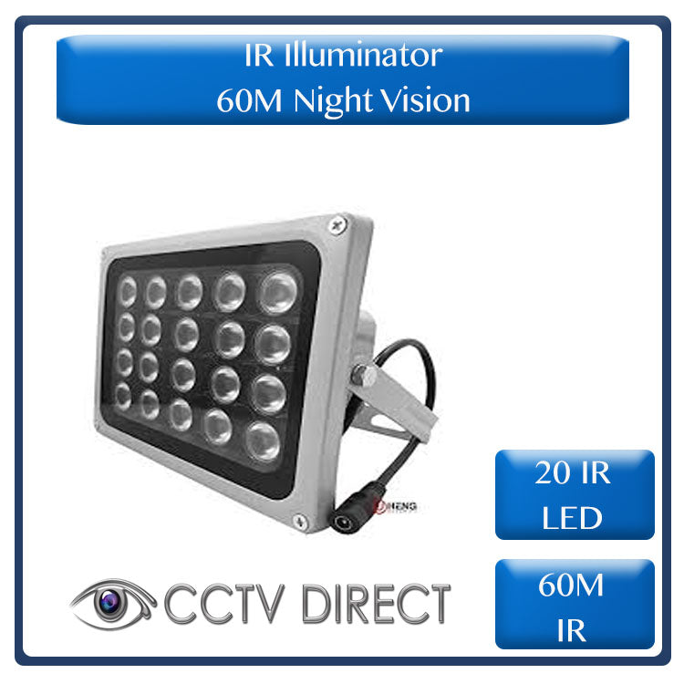 IR Illuminator, 20 IR LED, 60M Night vision