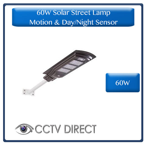 60W Solar Street Lamp With Motion Sensor & Day/Night Sensor