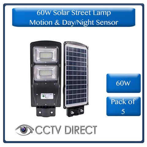 ** Pack of 5 ** 60W Solar Street Lamp With Motion Sensor & Day/Night Sensor (R650  each)