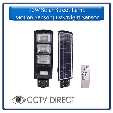 90W Solar Street Lamp With Motion Sensor & Day/Night Sensor