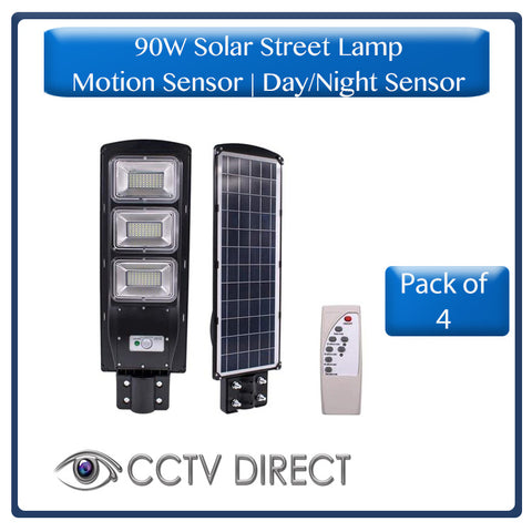 *** Pack of 4 *** 90W Solar Street Lamp With Motion Sensor & Day/Night Sensor ( R950 each )