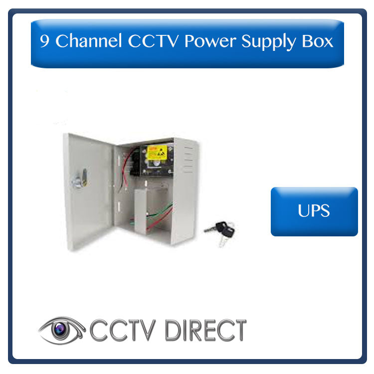 9 Channel 10Amp UPS power supply with battery back up