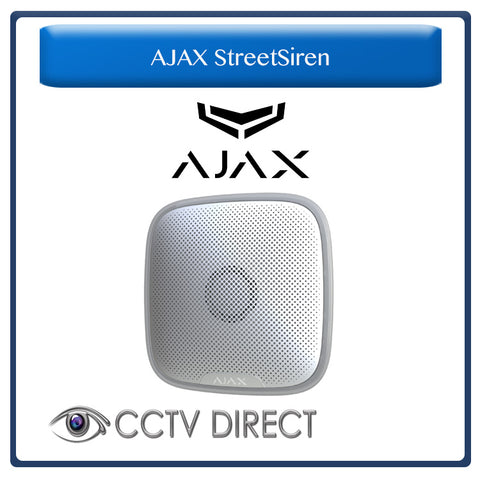 Ajax StreetSiren - Wireless Outdoor Siren with Strobe Light