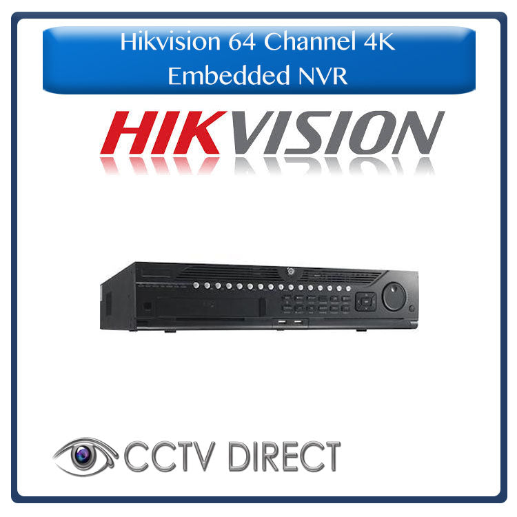Hikvision 64 channel 4K Embedded NVR, 12MP Recording, DS-9664NI-I8