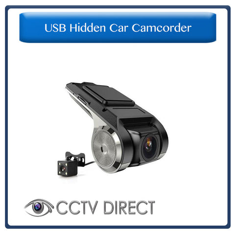 USB Hidden Car Camcorder with rear camera, Full HD