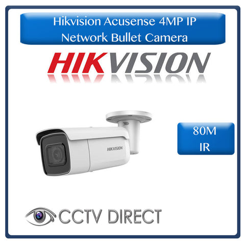 Hikvision Acusense 4MP IR Fixed Bullet Network Camera powered by Darkfighter, 80m Night vision